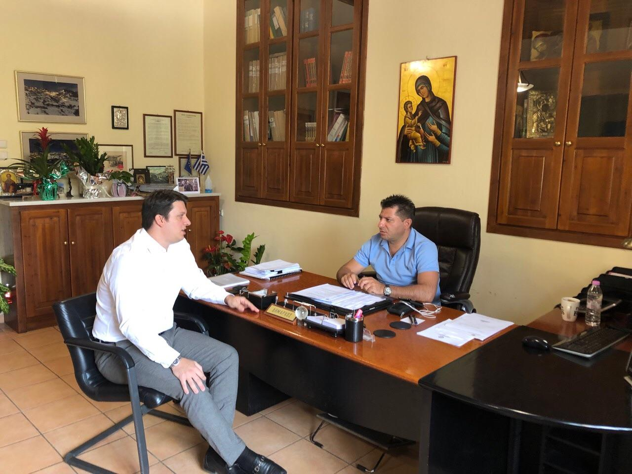Συνάντηση του Προέδρου του Κ.Κ.Π. Περιφέρειας Στερεάς Ελλάδας, κ. Θεόδωρου Δημόπουλου με τον νέο Δήμαρχο Δομοκού, κ. Χαράλαμπο Λιόλιο